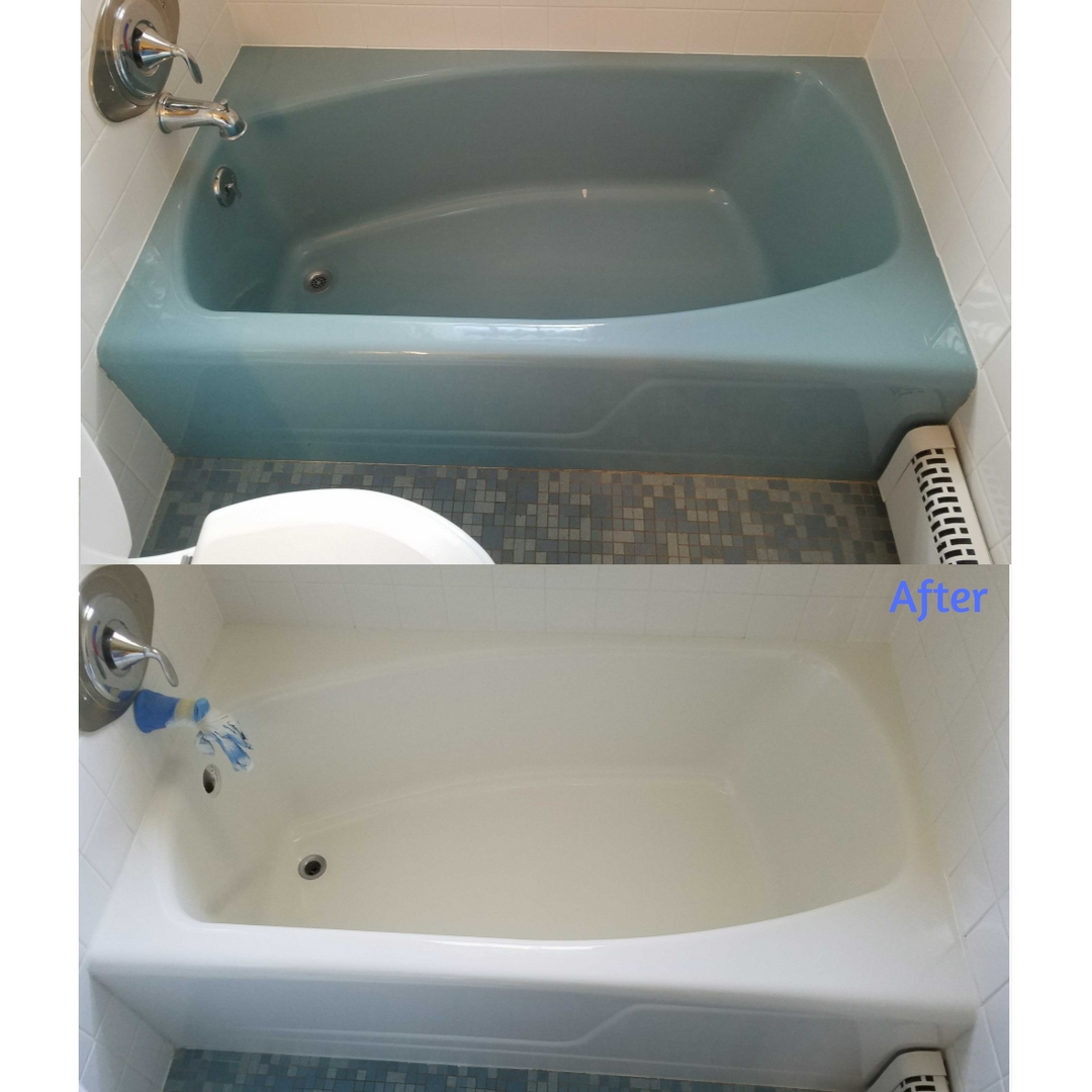 Before and After - Custom Tub and Tile Resurfacing