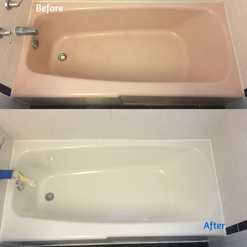Before And After Custom Tub And Tile Resurfacing