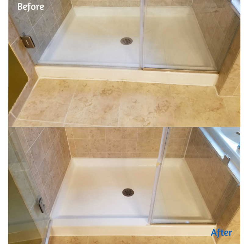 Shower pan resurface