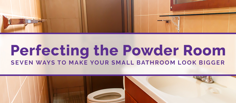 perfecting the power room 7 ways to make your small bathroom look bigger custom tub and tile
